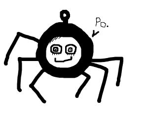 Deep web spider-like Teletubby