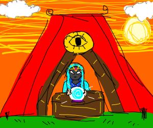 Fortune teller tent