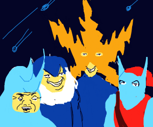 Me and the boys in intergalactic space