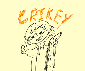Steve Erwin Crocodial Hunter CRIKEY!!!!