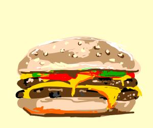 melting cheeseburger