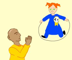 worshipping victorious jumprope girl baldi