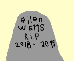 allen watts grave stone