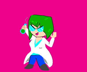 Mad scientist anime girl