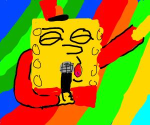 Spongebob is a rock star