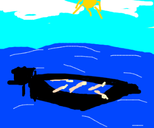 Fingers in a boat (p.s I am not a swine)