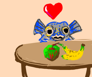 Fish loves food