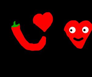 Chili Pepper loves love
