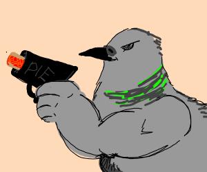 swol bird has a pie gun