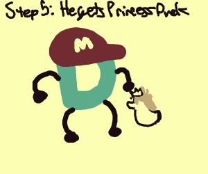 Step 4: Draw. D is in all Nintendo games