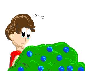Perdon picking berries