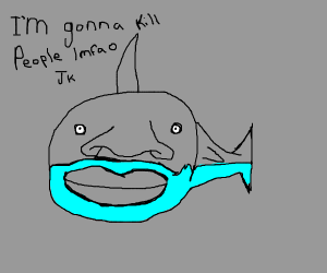 Shark joking about eating people
