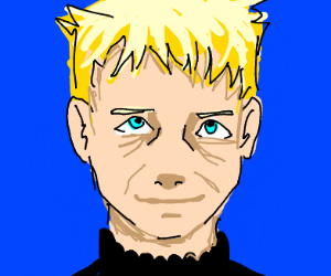 An aging Naruto, scarred & hardened by life