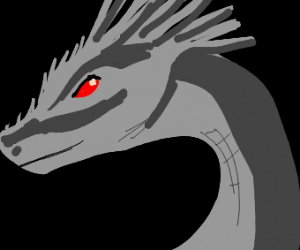 Gray Dragon With Red Eyes Drawing By Sword And Sidhe Drawception