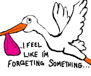 stork fogets baby
