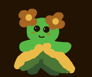 Lil' Nature spirit with flowers