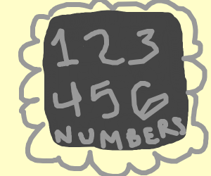 grey thing with numbers
