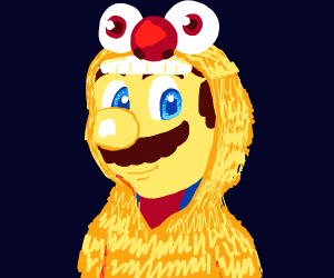 Mario in Yellmo costume