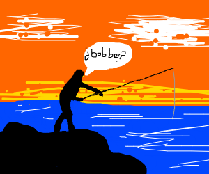Fishing with a bobber