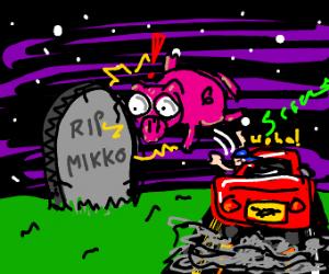 Hogging a grave