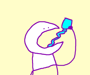 Stay hydrated folks! (a.k.a.Man drinks water)