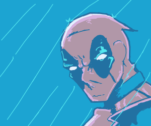 Deadpool in the rain