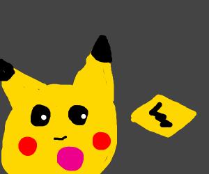 Pikachu staring at Electrium Z