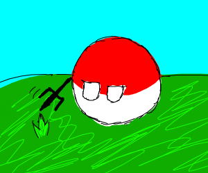 Polish ( land ) attacks grass with trident