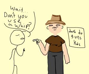 Indiana Jones with a gun