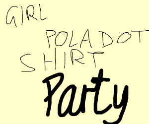 girl with pola dot shirt at a party