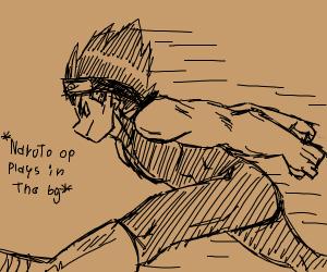 super saiyan doing the naruto run
