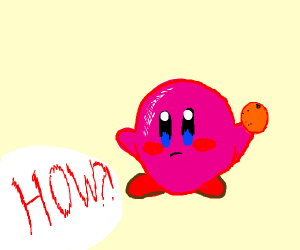 How does Kirby Hold Stuff With it's Nubbies?