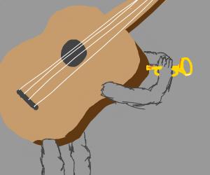 Guitar playing music