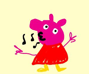 Whistling piggy