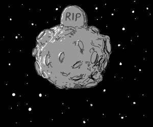 gravestone on the moon