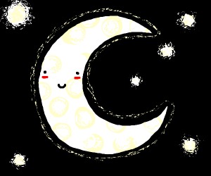 really cute moon