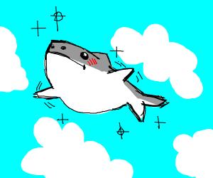 Shark in clouds