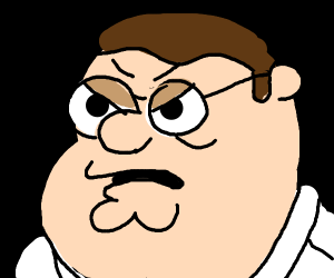 Peter Griffin is peeved
