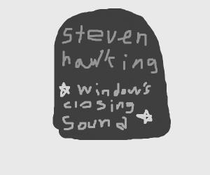 Stephen Hawking's Tombstone
