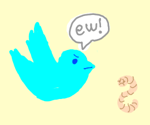 Twitter is disgusted by worm