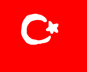 Close up of the flag of Turkey