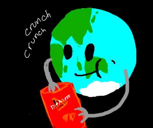 earth eats chips