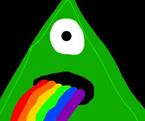 Illuminati pyramid spews rainbows