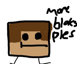 steve politely asks for more minecraft blocks