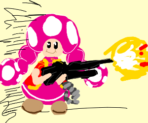 toadette going rambo on us.