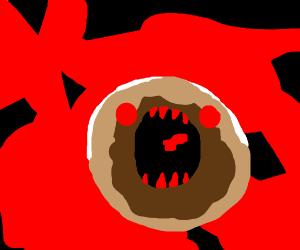 Spoopy evil doughnut