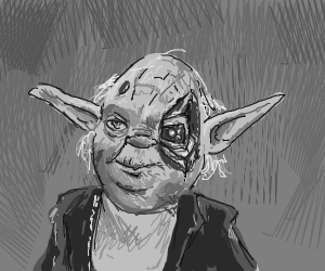Yoda with robot eye