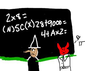 Evil teacher tells icecream sandwitch to do m