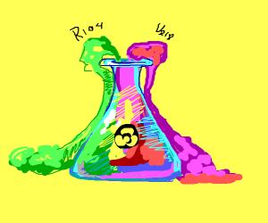 spilt radioactiv chemicals