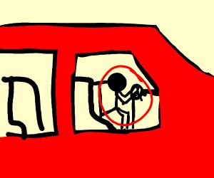 Guy driving